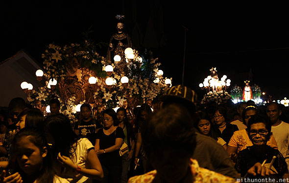 Carrozas good friday procession San Fernando Pampanga Philippines