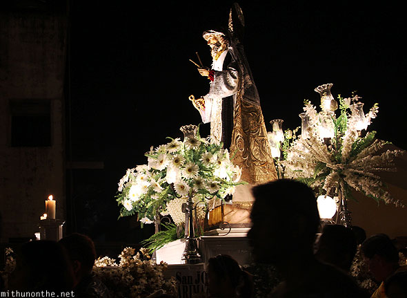 Catholic figure carrozas good friday procession Philippines