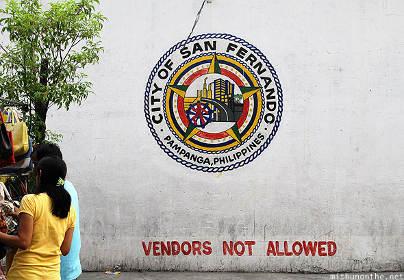 City of San Fernando seal on wall Pampanga Philippines