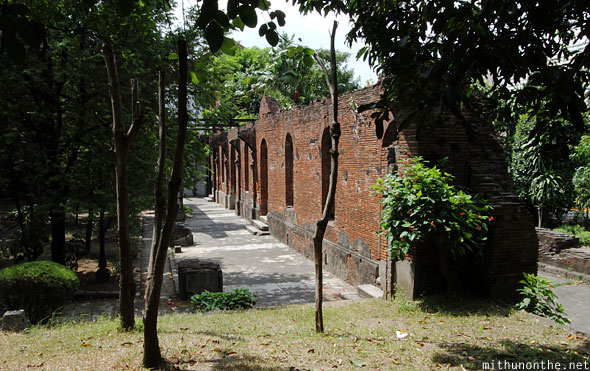 Fort Santiago brick wall Manila