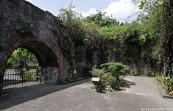 Fort Santiago plants vines Manila