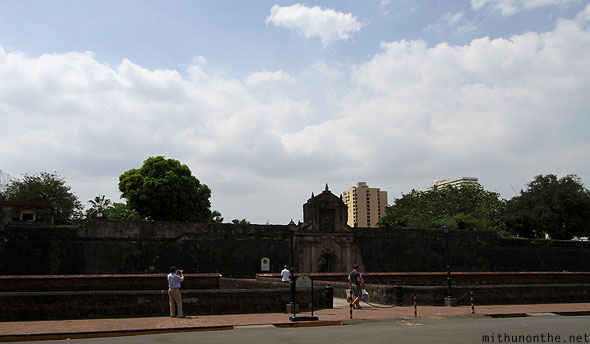 Fort Santiago wall Intramuros Manila Philippines