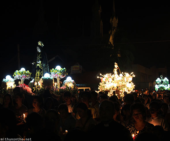 Good friday carrozas procession San Fernando Pampanga Philippines