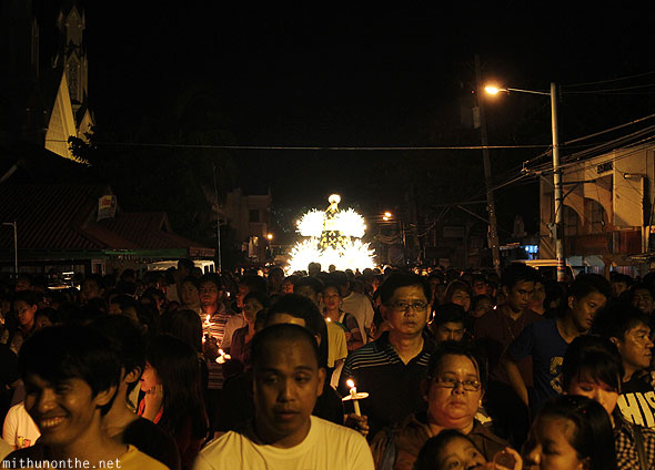 Good Friday night procession Pampanga Philippines