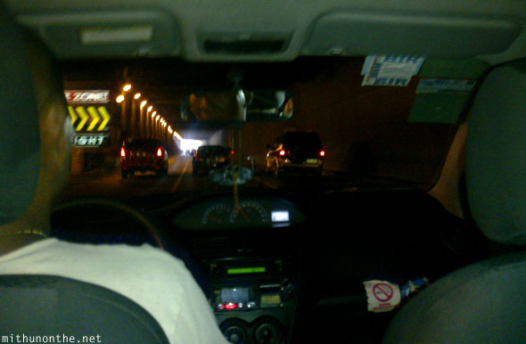 Inside Manila taxi to Pasay Philippines