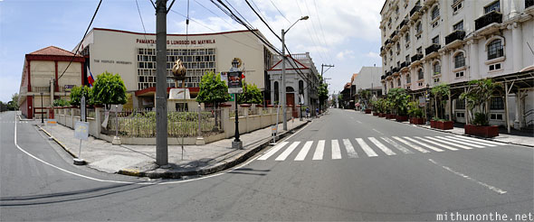 Intramuros entrance panorama Manila Philippines