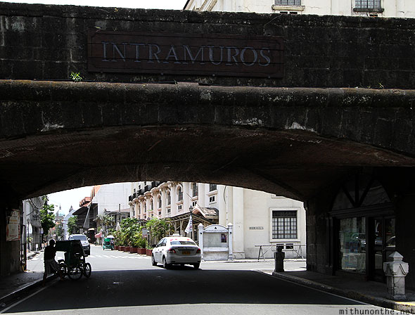 Intramuros main entrance Sunday Manila Philippines