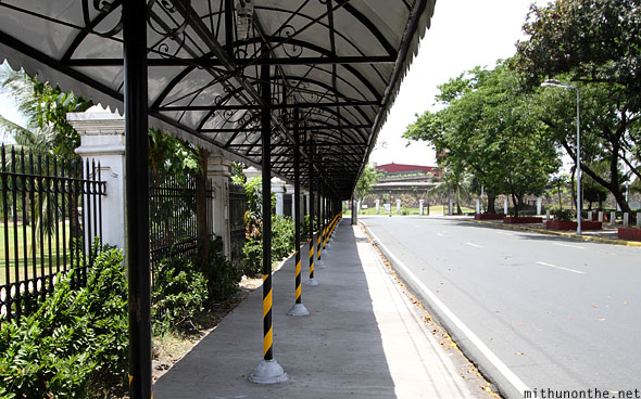 Intramuros pavement sun shade Manila Philippines