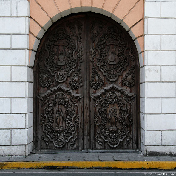 Intramuros Spanish colonial design door Manila Philippines