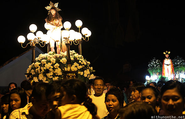 Jesus carrozas good friday procession Philippines