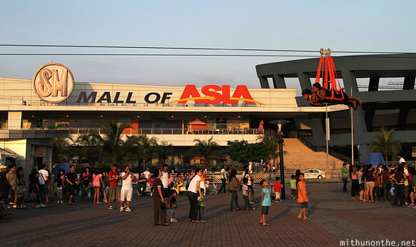 Mall of Asia baywalk zip line Manila Philippines