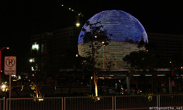 Mall of Asia globamaze led at night Manila Philippines