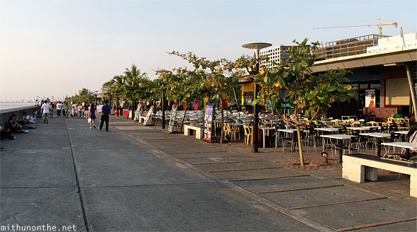 Mall of Asia promenade bay restaurants Manila Philippines
