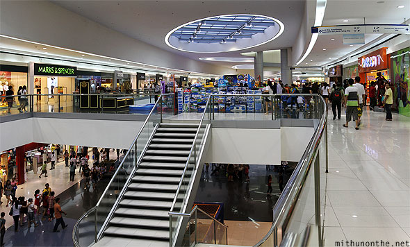 Mall of Asia interiors stairs panorama