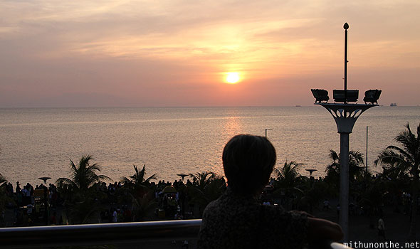 Mall of Asia sunset view baywalk Manila Philippines