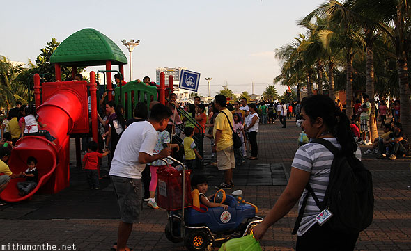 Manila baywalk children's playground Philippines
