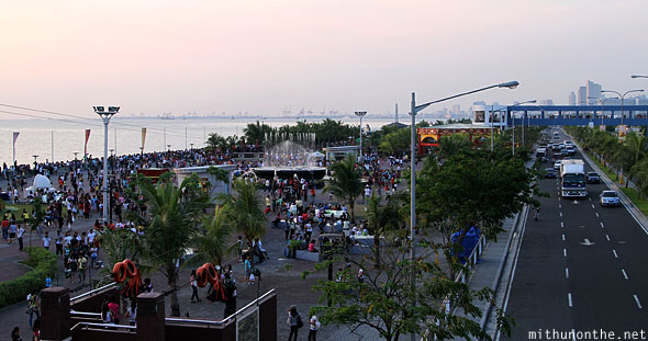 Manila baywalk mall of asia road Philippines