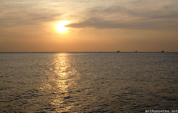 Manila baywalk sunset Philippines