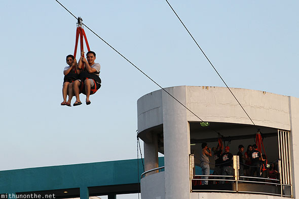 Manila baywalk zip line mall of asia Philippines