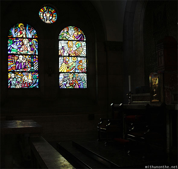 Manila Cathedral benches glass art Philippines