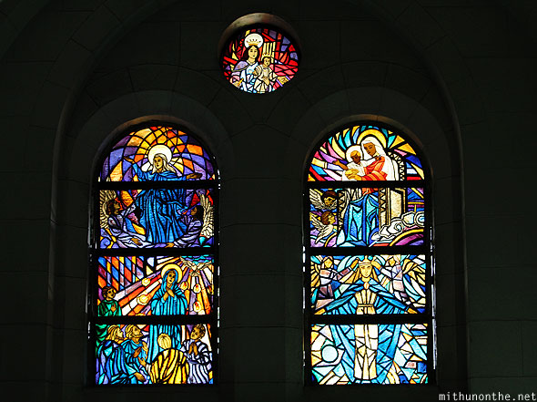 Manila cathedral Christian glass art window Philippines
