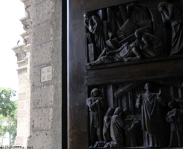 Manila Cathedral door caring Intramuros