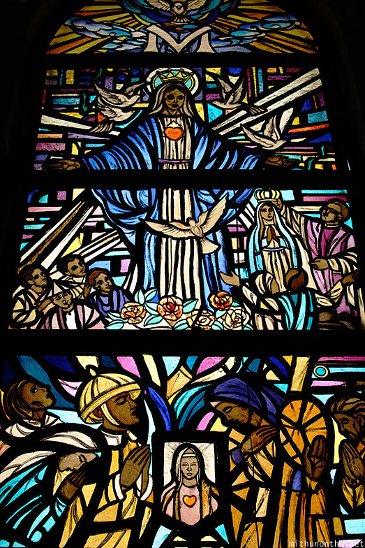 Manila Cathedral mary glass art window Philippines