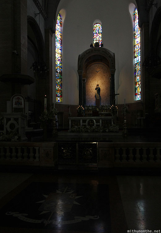 Manila cathedral Mother Mary Intramuros Philippines