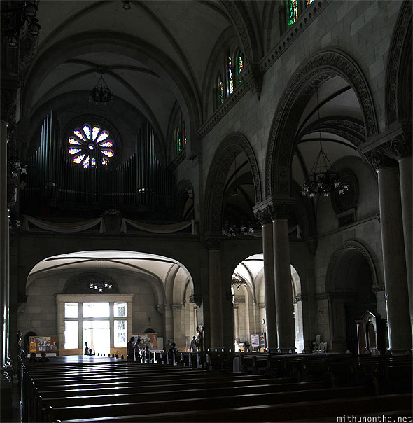 Manila Cathedral organ pipes panorama