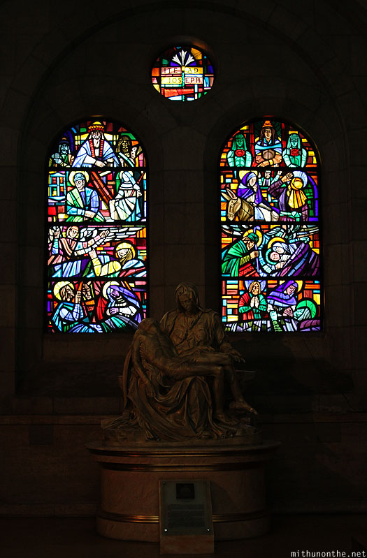 Manila Cathedral statue glass art window Philippines