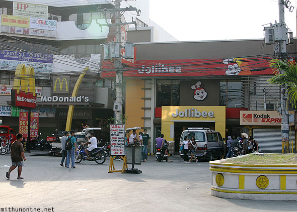 McDonald's Jollibee restaurants San Fernando Pampanga Philippines