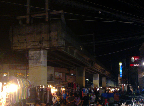 Pasay market end of MRT track Manila Philippines
