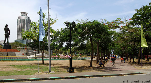 Rizal Park Sunday morning Manila Philippines