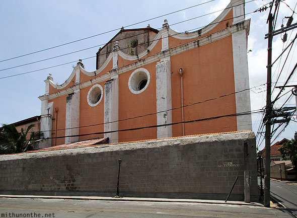 San Agustin church back walls Intramuros Manila Philippines