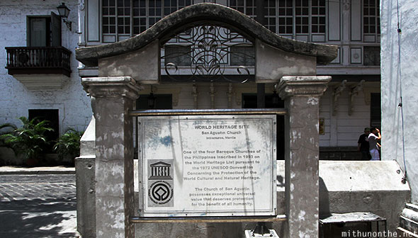 San Agustin church world heritage site Intramuros Philippines
