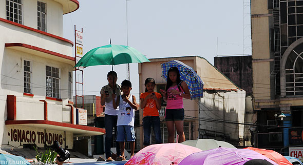 San Fernando children watching Pampanga Philippines