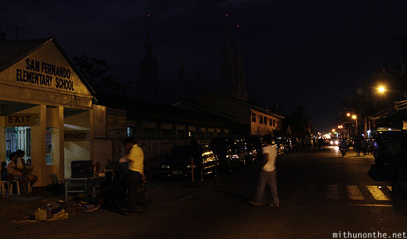 San Fernando Elementary school road evening Pampanga