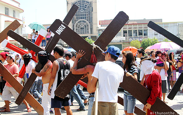 San Fernando good friday cross bearers Pampanga Philippines