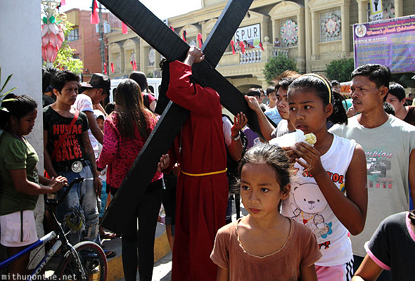 San Fernando good friday mamusankrus cross bearers Philippines