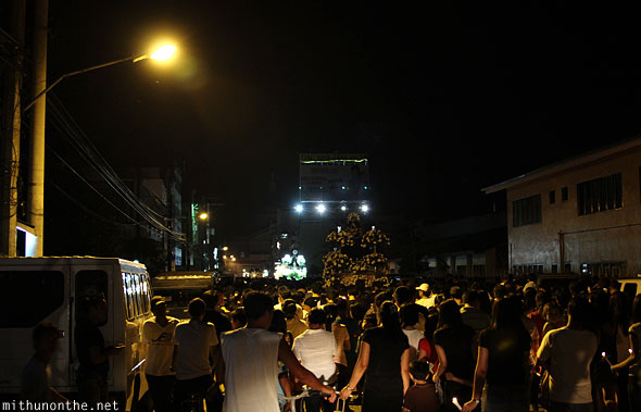 San Fernando good friday procession night Pampanga