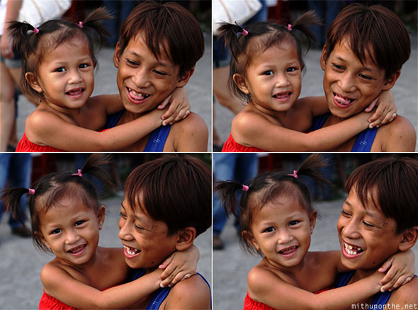 San Fernando street children smiling Philippines