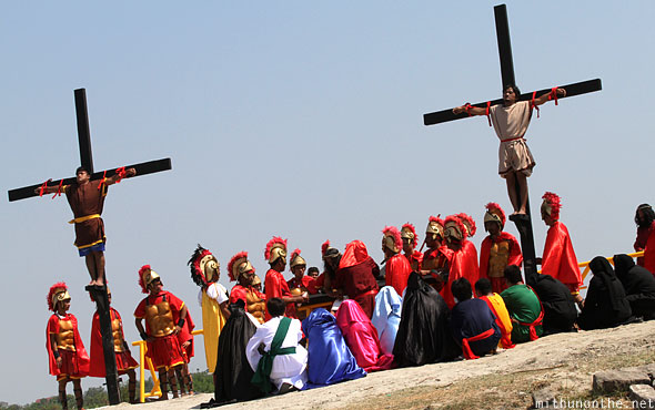 San Pedro Cutud crucifixion actors passion play Pampanga Philippines
