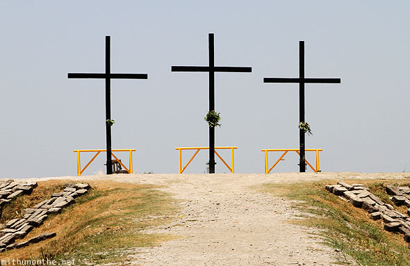 San Pedro Cutud crucifixion crosses Pampanga Philippines
