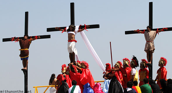 San Pedro Cutud crucifixion Jesus cross raised Pampanga