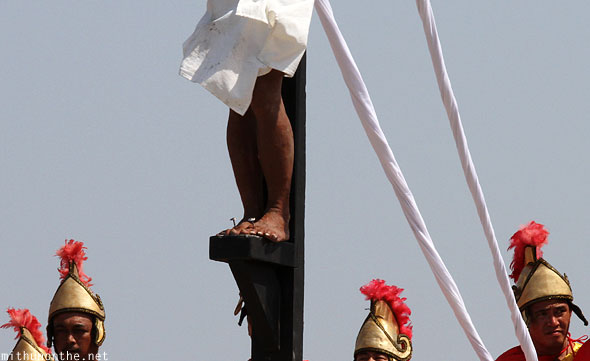San Pedro Cutud crucifixion nails Jesus feet