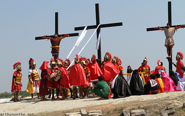 San Pedro Cutud crucifixion over Jesus Philippines