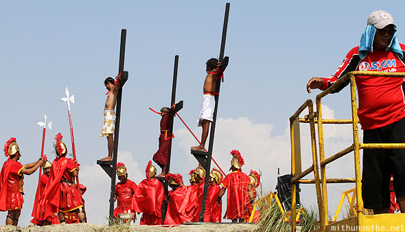 San Pedro Cutud passion play crucifixion crosses Pampanga