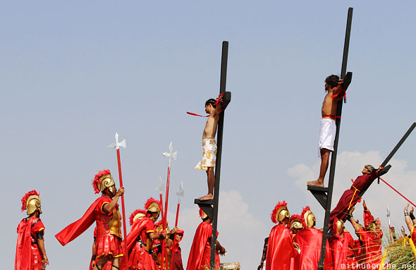 San Pedro Cutud passion play crucifixion play crosses Pampanga