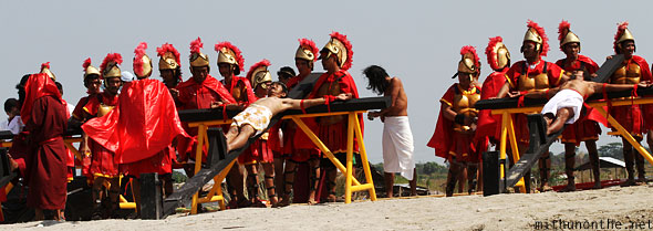 San Pedro Cutud passion play crucifixion volunteers Pampanga Philippines