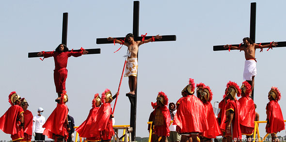 San Pedro Cutud penitents crosses Pampanga Philippines